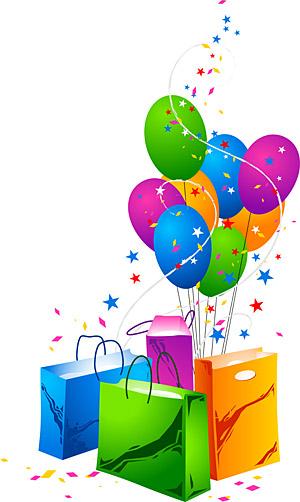تنسيق Eps، الكلمة الرئيسية حقيبة تسوق بالون الاحتفال