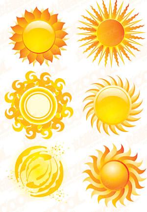 cristal sol estilo icono material de vectores free download