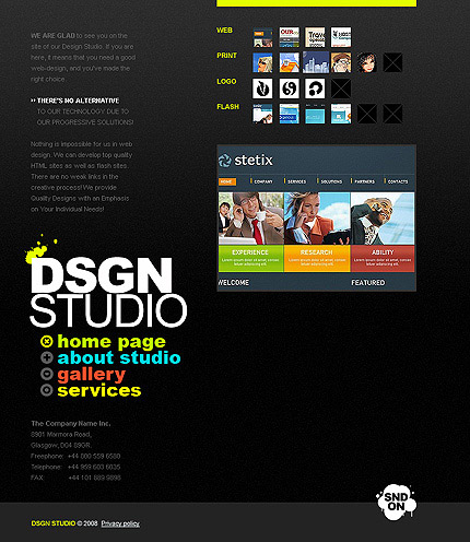 de modelo de site wide flash designer homepage pessoal free download