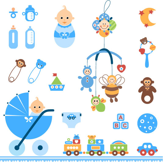 Palabras clave para bebés juguetes bebé botella clips pin puzzle ... Baby Stroller Cartoon