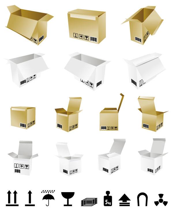 Keywords Carton Box Carton Box To Open The Template Vector