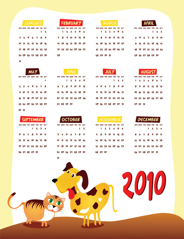 Calendar Design Zip : คำสำคัญ ปฏิทินปฏิทินน่ารักเสือ cartoon สุนัขเวกเตอร์