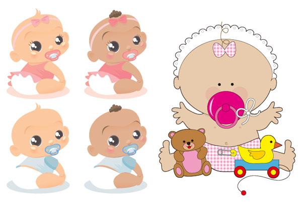 Palavras-chave Do Bebê Material De Vetor Do Bebê Bonito