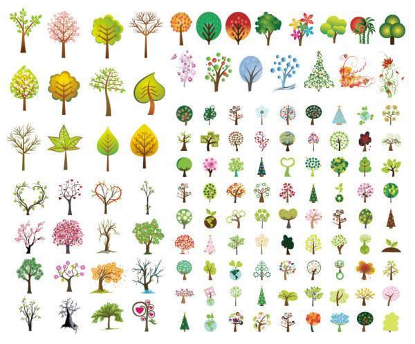 Rboles de palabra clave verde de hojas en forma de for Arboles con sus nombres y caracteristicas