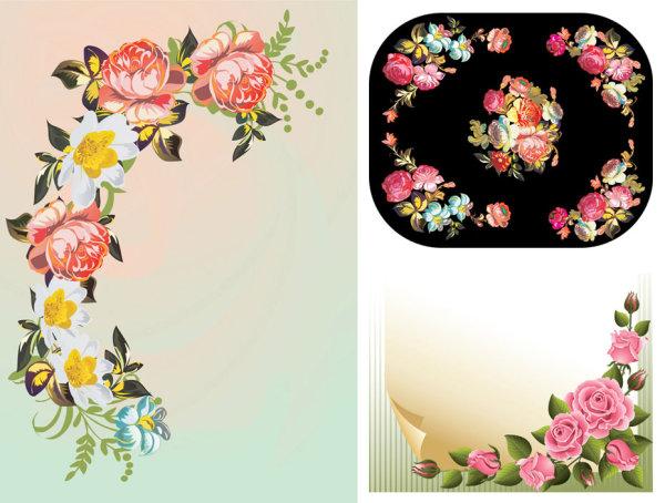 Flores Bordes Vector De Grano De Cuerno De Material