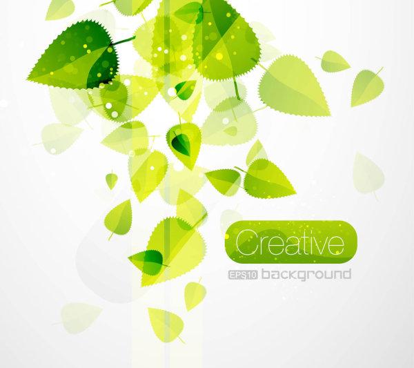Vert printemps laisse 02--vectorielles matériel