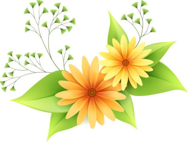 Palabras Clave Flores Hojas Verdes Vector De Material Free Download