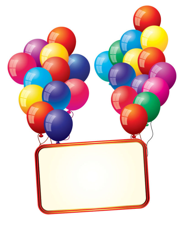 kata kunci billboard  balon  bahagia  vektor bahan free Balloon Clip Art Borders Birthday Hat Clip Art Transparent Background