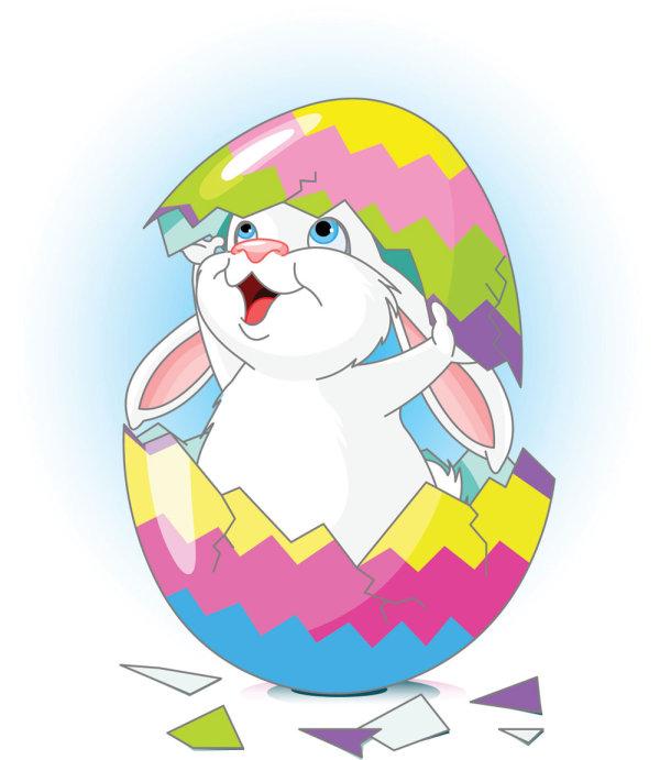 Dibujos animados de conejos y huevos 02 - vector Free Download ...