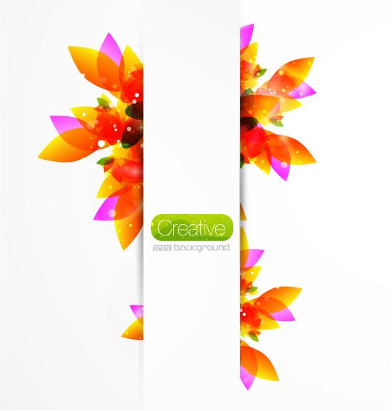 Vecteur de créatifs arrière-plan coloré floral -1 matériau