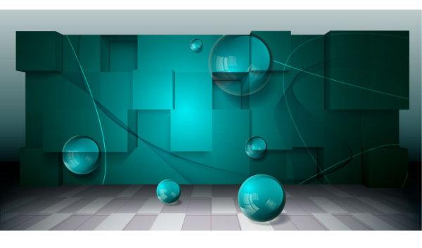 Vetor de plano de fundo de espa o de tridimensional for Immagini tridimensionali gratis