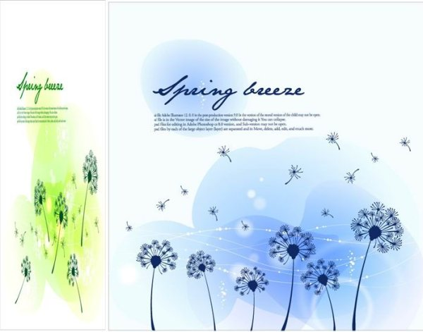 Les changements saisonniers du paysage matériel vecteur d'illustrator -3