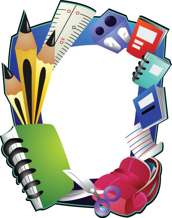 Desenhos animados material escolar 04 - vector