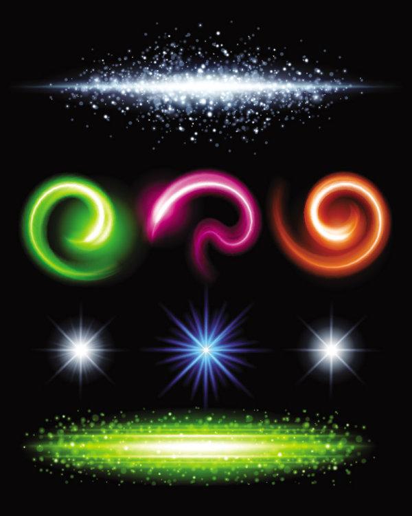 Efectos de iluminaciu00f3n brillante precioso 06--material de vectores