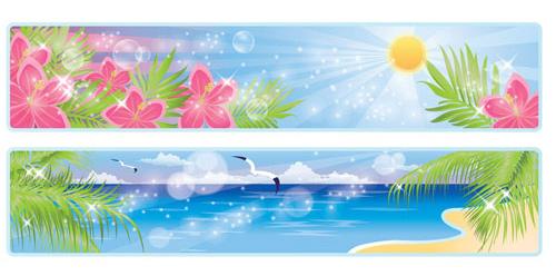 Hermosos paisajes costeros 03 - vectores
