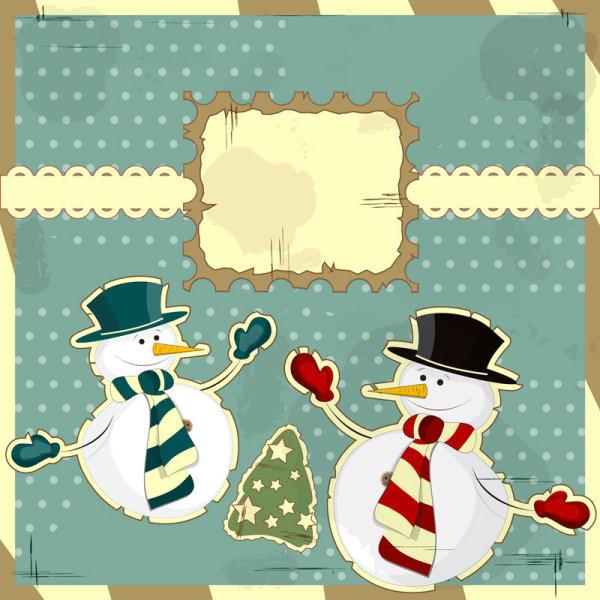 Snowman ตกแต่งทาสี 03 - เวกเตอร์