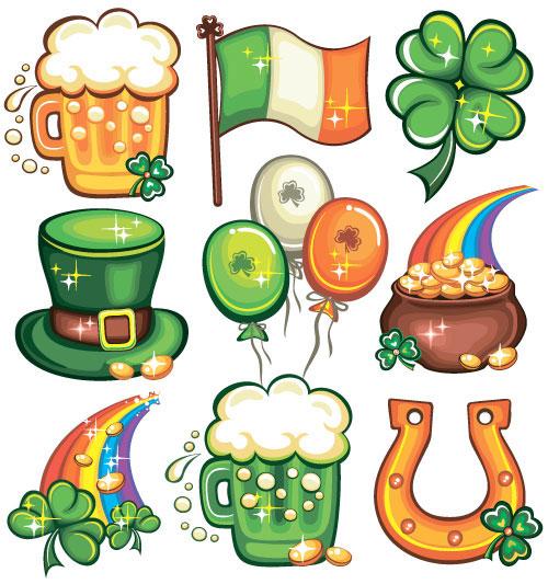 Palavras chave cartoon padr o cerveja bandeiras trevo - Immagini di st patrick day ...