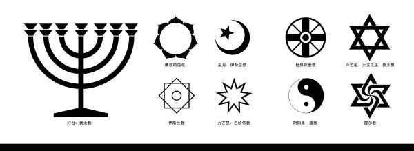 Logotipo de vector de judaísmo Hexagrama