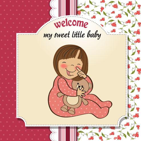 Kata Kunci Kartun Lucu Ilustrasi Gadis Bayi Perempuan Bayi