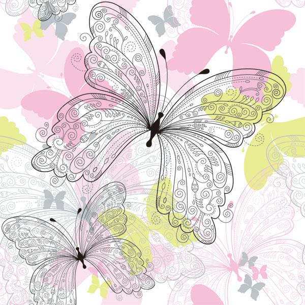 Kata Kunci: Kupu-kupu Indah, Pola, Tangan-dicat, Latar