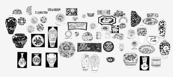 Древний шаблон 03 вектор материал