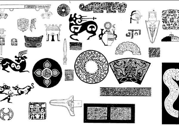 Древний шаблон 02 вектор материал