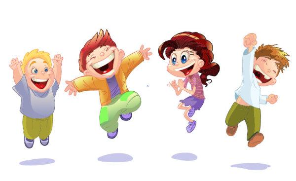 Niños alegres animados - Imagui
