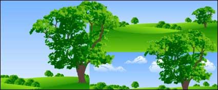 Трава дерево векторного материала