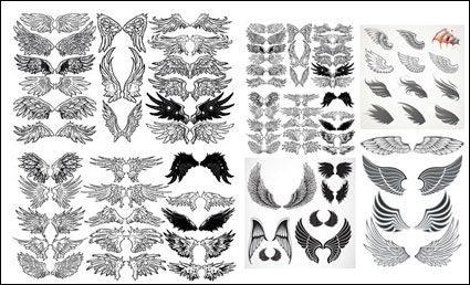A variety of wings totem vector material