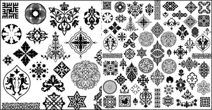Ancient style pattern - vector material