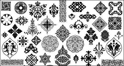 美しい古典的な伝統的なパターン ベクトル材料