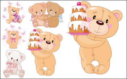 น่ารักการ์ตูนหมี - วัสดุเวกเตอร์