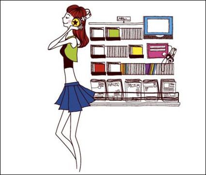 Vector de dibujos animados lindo /More in: Vector Cartoon