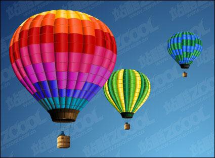 Material de vectores de globo de aire caliente