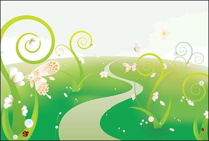 Бабочка цветы иллюстрации Иллюстрация векторного материала