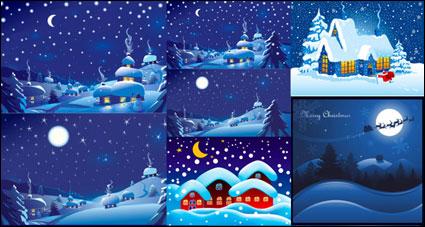 Nuit de Noël vecteur