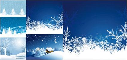 Vecteur de neige de Noël