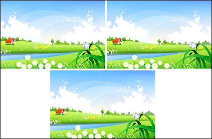 paysages de campagne vecteur