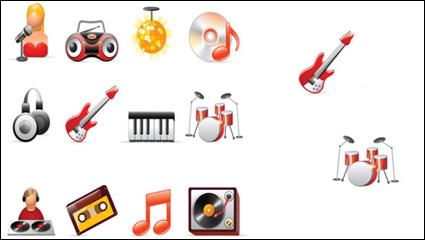 Musik ikon vektor bahan /More in: Vektor icon