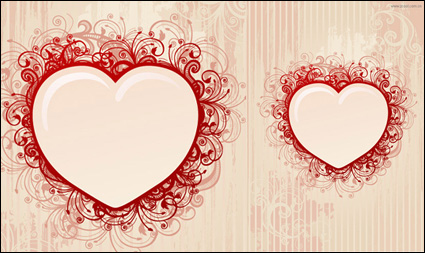 Heart-shaped pattern vector material