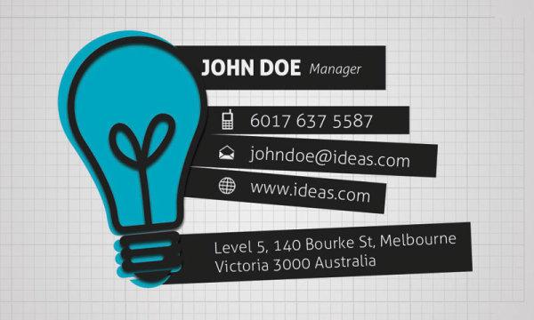 創造的なビジネス カード 01 PSD 層状材料