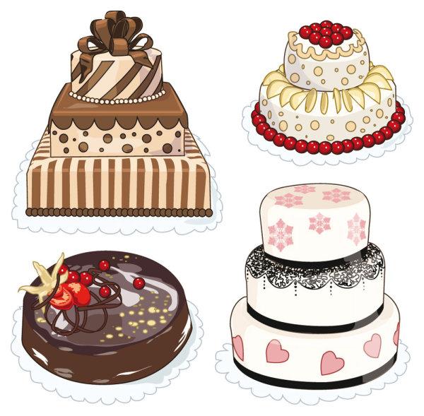 การ์ตูน Pastries ขนมปัง เค้ก เค้กวันเกิด อาหาร