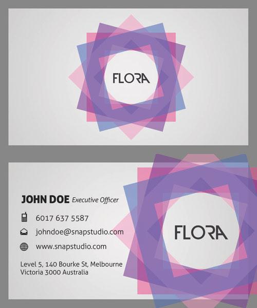 Элегантные визитная карточка шаблоны 01-НС слоистые материалы