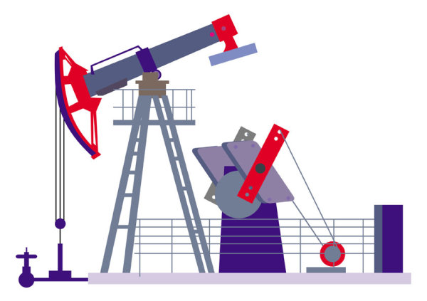 oil field drilling machines silhouette equipment