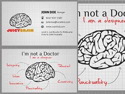 두뇌 명함 PSD 계층화 된 자료